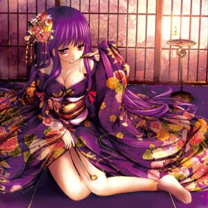 Rating: Safe Score: 85 Tags: catbell cleavage cream kimono patchouli_knowledge touhou User: 椎名深夏