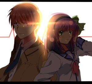 Rating: Safe Score: 6 Tags: angel_beats! otonashi seifuku sham_fu yurippe User: fairyren