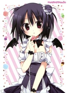 Rating: Safe Score: 56 Tags: cleavage korie_riko maid mujin_shoujo nagi_(korie_riko) wings User: Twinsenzw