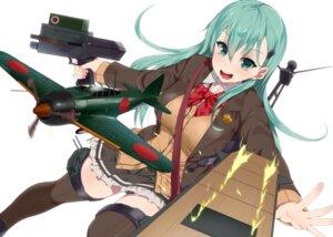 Rating: Safe Score: 27 Tags: gun kantai_collection seifuku suzuya_(kancolle) tagme thighhighs User: fairyren