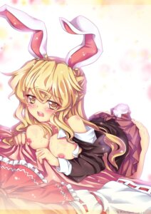 Rating: Explicit Score: 40 Tags: abyss_of_parliament animal_ears breasts bunny_ears cosplay cum kirisame_marisa nipples reisen_udongein_inaba touhou User: Mr_GT