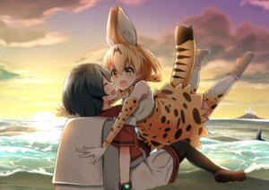Rating: Safe Score: 16 Tags: animal_ears kaban_(kemono_friends) keigen_hichou kemono_friends pantyhose serval thighhighs User: Mr_GT