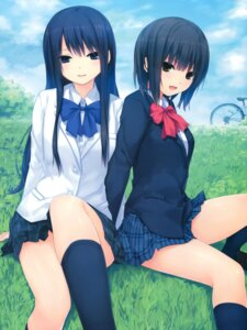 Rating: Safe Score: 2 Tags: aoyama_sumika coffee-kizoku seifuku shiramine_rika stockings thighhighs User: Twinsenzw