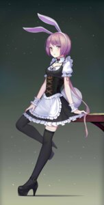 Rating: Safe Score: 45 Tags: animal_ears bunny_ears heels maid sonic0_0 tail thighhighs User: Mr_GT