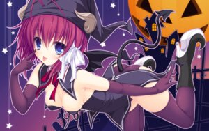 Rating: Questionable Score: 81 Tags: cleavage devil halloween horns justy_x_nasty kuroki_kirie mikagami_mamizu tail thighhighs wallpaper whirlpool wings User: 椎名深夏