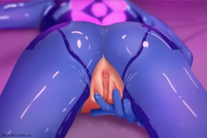 Rating: Explicit Score: 91 Tags: ass bodysuit hirume metroid nopan pussy samus_aran uncensored User: RyuZU