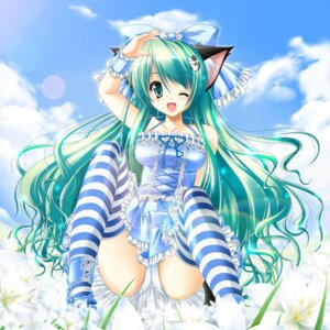 Rating: Safe Score: 67 Tags: animal_ears kamiya_tomoe lolita_fashion nekomimi pantsu thighhighs User: bunnygirl