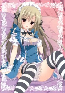 Rating: Safe Score: 131 Tags: inugami_kira maid necotoxin thighhighs User: batinthebelfry