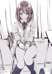 Rating: Questionable Score: 37 Tags: kobayashi_chisato monochrome seifuku sweater User: zyll