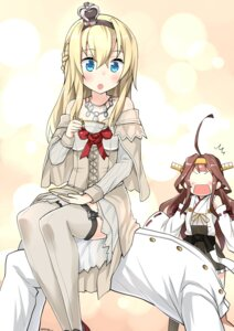 Rating: Safe Score: 42 Tags: admiral_(kancolle) dress kantai_collection kongou_(kancolle) ryuki_(pixiv_2328) stockings thighhighs uniform warspite_(kancolle) User: Mr_GT