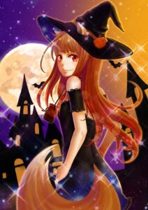 Rating: Safe Score: 29 Tags: animal_ears dress halloween holo kitsune spice_and_wolf syrinxwell311 tail witch User: sylver650