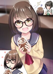 Rating: Safe Score: 26 Tags: megane nekobaka seifuku sweater User: saemonnokami