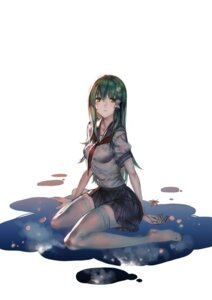 Rating: Questionable Score: 65 Tags: kishiyo kochiya_sanae seifuku thighhighs touhou wet_clothes User: Mr_GT
