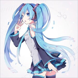 Rating: Safe Score: 44 Tags: hatsune_miku tama_(songe) thighhighs vocaloid User: 23yAyuMe