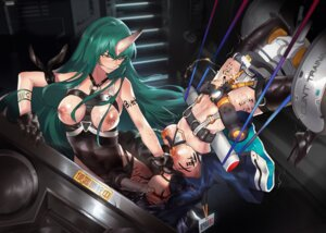 Rating: Explicit Score: 20 Tags: arknights bondage breasts ch'en_(arknights) dildo garter heels horns hoshiguma_(arknights) kvpk5428 lactation leotard nipples no_bra pee pussy_juice strap-on thighhighs yuri User: Dreista