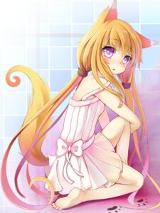 Rating: Safe Score: 56 Tags: animal_ears bandaid dress feet kitsune ming_(heart) tail User: Mr_GT