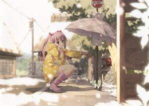 Rating: Safe Score: 41 Tags: 5_nenme_no_houkago kantoku miyaguchi_kanna_(kantoku) umbrella User: Kalafina