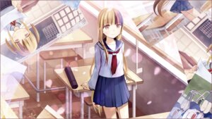 Rating: Safe Score: 20 Tags: galaco kari_kenji seifuku vocaloid User: animeprincess