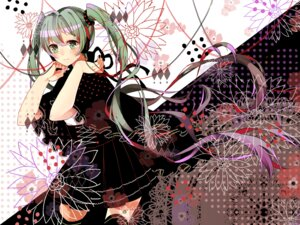 Rating: Safe Score: 30 Tags: hatsune_miku tagme_artist_translation thighhighs vocaloid イオ User: KazukiNanako