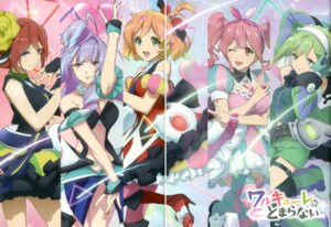 Rating: Safe Score: 12 Tags: cleavage dress freyja_wion gap garter headphones heels kaname_buccaneer macross macross_delta majiro makina_nakajima mikumo_guynemer reina_prowler thighhighs User: fireattack