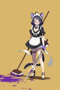 Rating: Safe Score: 31 Tags: animal_ears cleavage heels maid megane nekomimi sword tagme tail User: Mr_GT