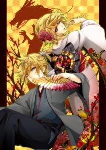 Rating: Safe Score: 7 Tags: kagamine_len kagamine_rin kimono rico_(fbn3) vocaloid User: charunetra