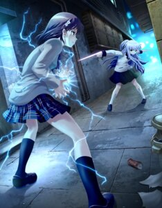 Rating: Safe Score: 43 Tags: angel_beats! ariontang crossover misaka_mikoto seifuku tenshi to_aru_kagaku_no_railgun to_aru_majutsu_no_index User: Kaliumcyanid