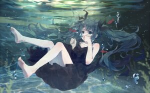 Rating: Safe Score: 33 Tags: bou_shaku dress feet hatsune_miku shinkai_shoujo_(vocaloid) vocaloid User: charunetra