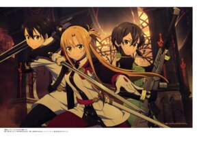 Rating: Safe Score: 27 Tags: asada_shino asuna_(sword_art_online) gun kikuchi_ai kirito megane pantyhose sword sword_art_online sword_art_online_ordinal_scale uniform User: drop