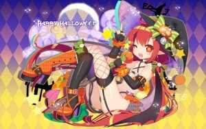 Rating: Questionable Score: 46 Tags: cleavage fishnets halloween heels loli mvv pantsu rancy stockings tail thighhighs wallpaper wings witch User: Mr_GT