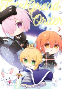Rating: Safe Score: 11 Tags: chihiro fate/grand_order female_protagonist_(fate/grand_order) fou_(fate/grand_order) mash_kyrielight saber User: kiyoe