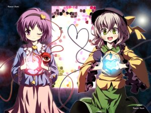 Rating: Safe Score: 14 Tags: komeiji_koishi komeiji_satori touhou wallpaper yamasan User: ddns001