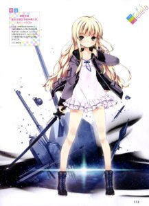 Rating: Safe Score: 65 Tags: dress gun open_shirt refeia sword User: drop