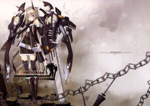 Rating: Safe Score: 51 Tags: asahiage chainsaw jpeg_fix mecha_musume poco thighhighs User: dekiboy
