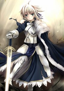 Rating: Safe Score: 49 Tags: armor fate/stay_night kajuu140 saber sword torn_clothes xephonia User: Brufh