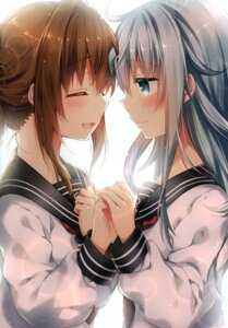 Rating: Questionable Score: 40 Tags: eterna-radiare hibiki_(kancolle) inazuma_(kancolle) kantai_collection riichu seifuku yuri User: Radioactive