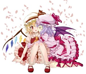 Rating: Safe Score: 26 Tags: flandre_scarlet remilia_scarlet taturouxs touhou User: guziming