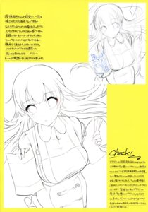 Rating: Safe Score: 8 Tags: atsuki_nettaiya dress line_art ogino_atsuki sketch User: Thatman