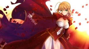 Rating: Safe Score: 55 Tags: cleavage dress fate/extra fate/stay_night ladymarta pantsu saber_extra see_through thighhighs User: omegakung