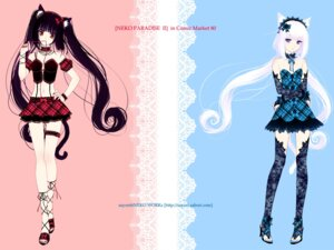 Rating: Safe Score: 101 Tags: animal_ears chocola garter gothic_lolita lolita_fashion neko_works nekomimi sayori thighhighs vanilla wallpaper User: Aurelia