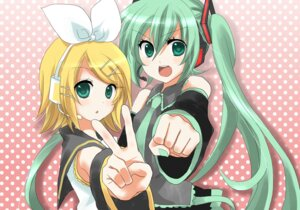 Rating: Safe Score: 16 Tags: hatsune_miku kagamine_rin sakura_yuki vocaloid User: ホタル
