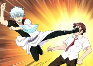 Rating: Safe Score: 11 Tags: crossover gintama kyon male punchiki sakata_gintoki suzumiya_haruhi_no_yuuutsu User: tamashii_kun