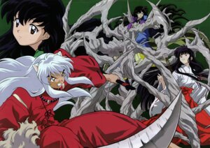 Rating: Safe Score: 7 Tags: animal_ears higurashi_kagome inumimi inuyasha inuyasha_(character) japanese_clothes kikyo miko naraku User: Radioactive