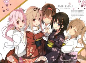 Rating: Questionable Score: 96 Tags: harusame_(kancolle) jpeg_artifacts kantai_collection kimono kujou_ichiso miko murasame_(kancolle) shigure_(kancolle) shiratsuyu_(kancolle) yuudachi_(kancolle) User: ka32456