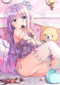 Rating: Safe Score: 37 Tags: pantsu siooooono sweater thighhighs thong valentine User: Mr_GT