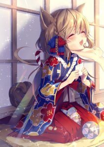 Rating: Safe Score: 46 Tags: animal_ears heels kimono tail tyanotya User: Mr_GT