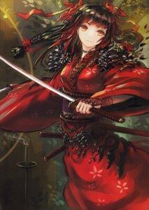 Rating: Safe Score: 75 Tags: denki fusion_factory kimono sword User: fireattack