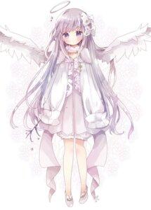 Rating: Safe Score: 57 Tags: angel bloomers dress tsukiyo_(skymint) wings User: sym455