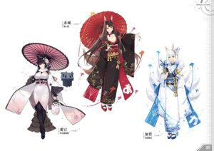 Rating: Questionable Score: 25 Tags: akagi_(azur_lane) animal_ears atago_(azur_lane) azur_lane bacai_tidu cleavage heels kaga_(azur_lane) kimono kishiyo kitsune pantyhose tail User: Twinsenzw