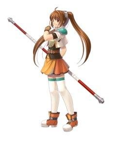 Rating: Safe Score: 6 Tags: armor eiyuu_densetsu eiyuu_densetsu:_sora_no_kiseki estelle_bright thighhighs weapon User: blooregardo